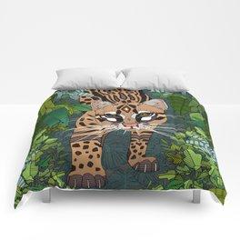 ocelot jungle nightshade Comforters