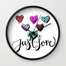 Just LOVE Wall Clock