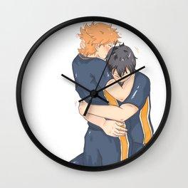 kagehina -tired but happy Wall Clock