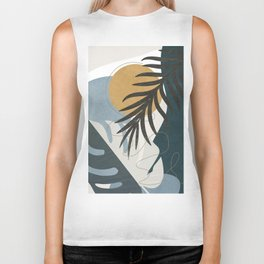 Abstract Tropical Art II Biker Tank