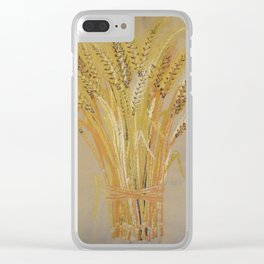 Harvest Wheat Clear iPhone Case