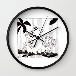 Adventures in the Jungle Wall Clock