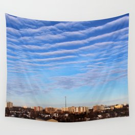 Blue Sky Toronto Wall Tapestry
