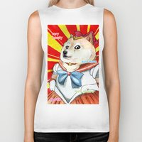 doge Biker Tanks featuring Sailor Doge by Michael Thomas Grant