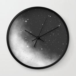 Monochrome Black and White Galaxy Pattern Wall Clock