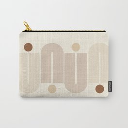 Geometric Lines in Neutral Colors 2 Carry-All Pouch