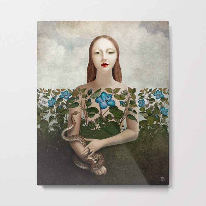 Eva and the Garden Metal Print