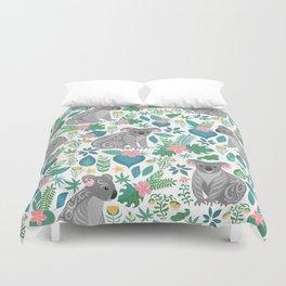 Floral Koala Duvet Cover