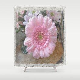 Pink Candy Floss Shower Curtain