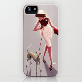 50s dogwalker  iPhone Case