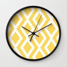 Yellow Diamond Wall Clock