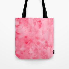 Bright Pink Abstract Watercolor Tote Bag