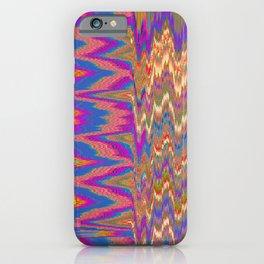 Chevron Glitch iPhone Case