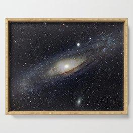 Andromeda Galaxy Serving Tray