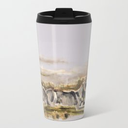 Totem wolf (Sunset) Metal Travel Mug