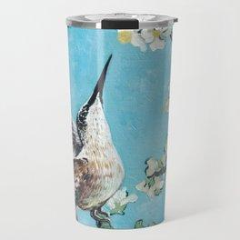 Almond Blossom with Hummingbirds I Travel Mug