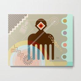 Adinkra Duafe Metal Print