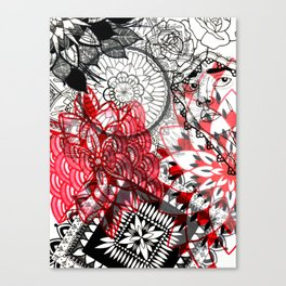 Hermotherseyes Collage Canvas Print