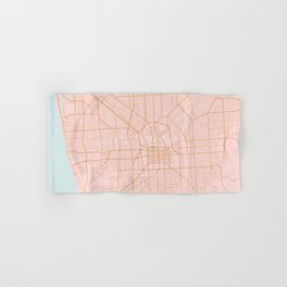 Pink and gold Adelaide map Hand & Bath Towel