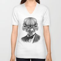 stormtrooper V-neck T-shirts featuring Stormtrooper by DIVIDUS