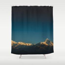 Himalayan sunrise Shower Curtain