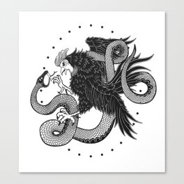 Rooster vs Snake Canvas Print