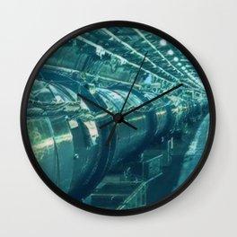 Switzerland Cern Large Hadron Collider Artistic Illustration Under Water Style Wall Clock