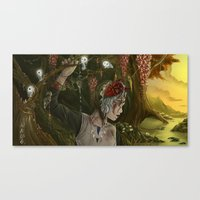 princess mononoke Canvas Prints featuring mononoke by Devon Busby Busbyart