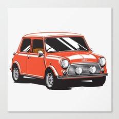 Mini Cooper Car - Red Canvas Print