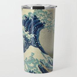Great Wave Off Kanagawa (Kanagawa oki nami-ura or 神奈川沖浪裏) Travel Mug