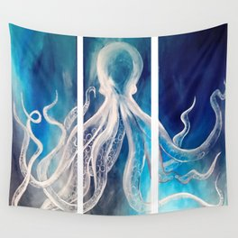 Octopus Tryptic Wall Tapestry