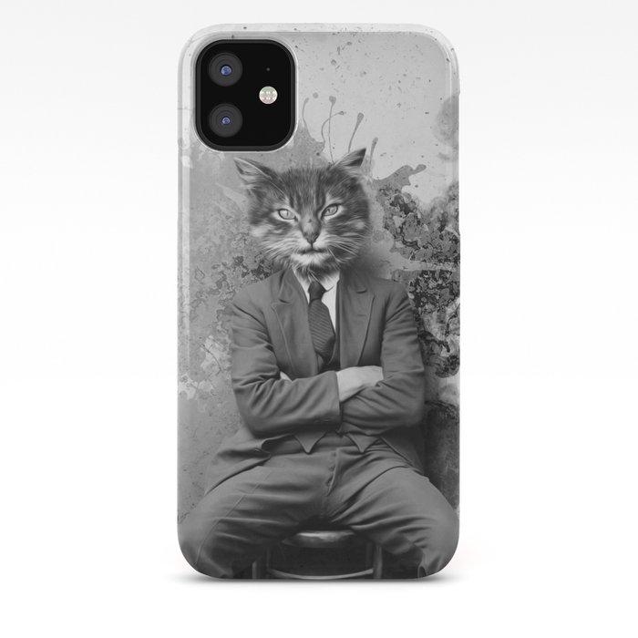 SEATED GRAY TABBY iphone 11 case