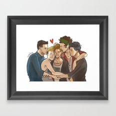 Everyone Loves Louis Framed Art Print