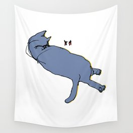 Cat Sketch Wall Tapestry