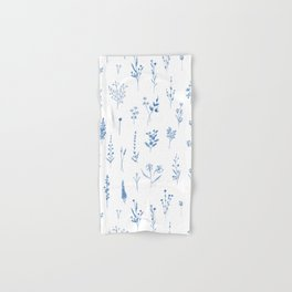 Wildflowers in blue Hand & Bath Towel