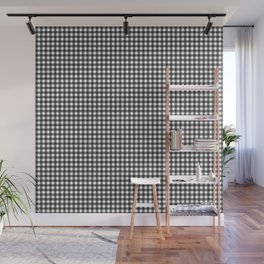 Black and White Gingham Wall Mural