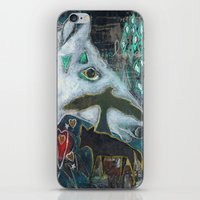 compass iPhone & iPod Skins featuring Compass by Pixie Campbell