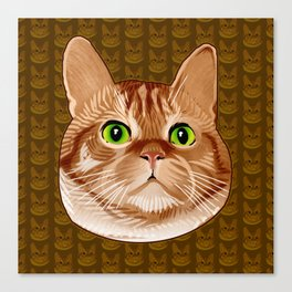 Roswell the Cat Canvas Print