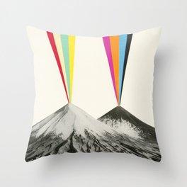 Volcanos Throw Pillow