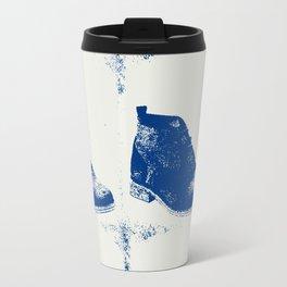 """""""Delft Blue"""" Suede Shoes Travel Mug"""