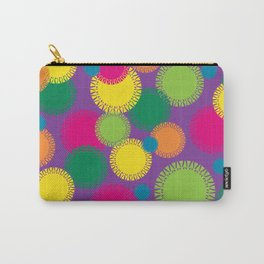 Spikey Circles Purple Carry-All Pouch