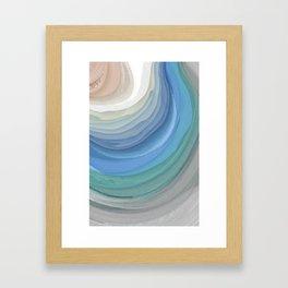 Topography Framed Art Print