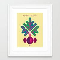 vegetable Framed Art Prints featuring Vegetable: Beetroot by Christopher Dina