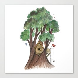 Tree house Canvas Print