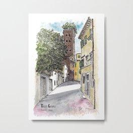Guinigi Tower at Lucca, Italy Metal Print