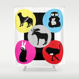 A Family of Belchers Shower Curtain