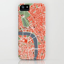 London city map classic iPhone Case