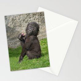 Cute Baby Gorilla Stationery Cards