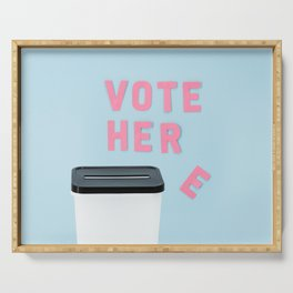 Vote her Serving Tray