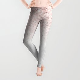 She Sparkles Rose Gold Pink Concrete Luxe Leggings
